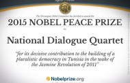 Premio Nobel per la Pace 2015: vince il Quartetto per il dialogo tunisino