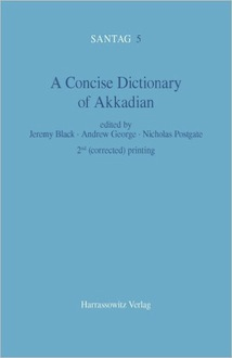 A concise dictionary ok akkadian
