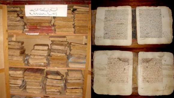 Gruppo di esperti anlizzano manoscritti algerini