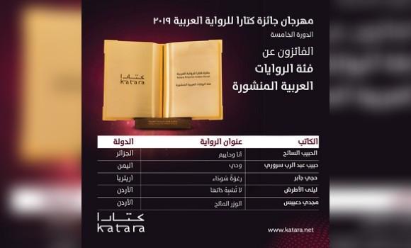 Premio Katara per il romanzo arabo: spicca la letteratura  Algeria